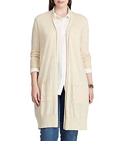 Chaps® Plus Size Open-Front Cotton-Modal Cardigan