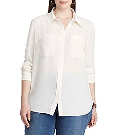 Chaps® Plus Size Georgette Button-Up Shirt