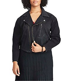 Chaps® Plus Size Denim Moto Jacket