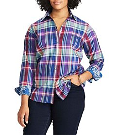 Chaps® Plus Size Non-Iron Plaid Cotton Shirt