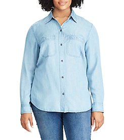 Chaps® Plus Size Chambray Button-Up Shirt