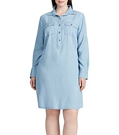 Chaps® Plus Size Twill Shirt Dress