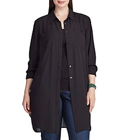 Chaps® Plus Size Georgette Button-Up Tunic