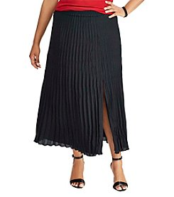 Chaps® Plus Size Pleated Georgette Skirt