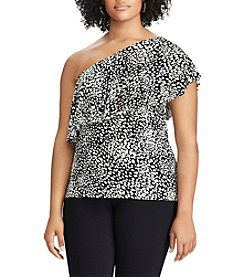 Chaps® Plus Size Ruffled One-Shoulder Top