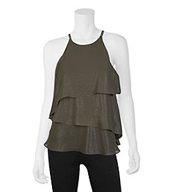 A. Byer Tiered Halter Top