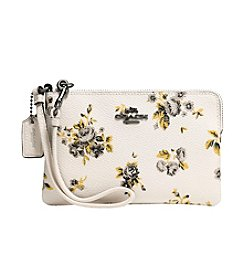 COACH SMALL WRISTLET IN PRAIRIE COATED CANVAS