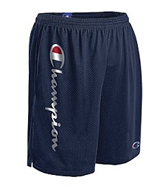 Champion® Men's Script Logo Mesh Shorts