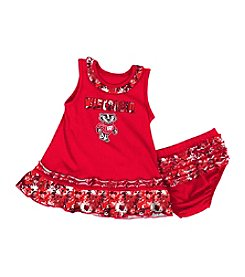 Colosseum® NCAA® Wisconsin Badgers Baby Girls' Fountain Dress Set
