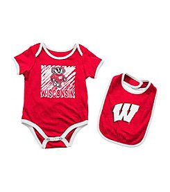 Colosseum® NCAA® Wisconsin Badgers Baby Bodysuit and Bib