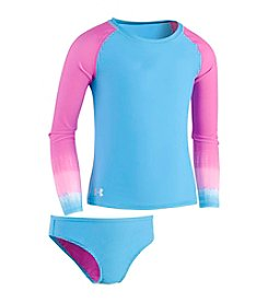 Under Armour® Girls' 2T-6X Ombre Long Sleeve Rashguard Set