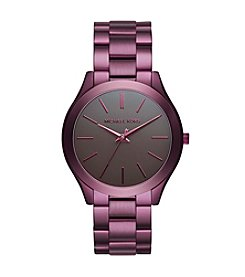 Michael Kors® Women's Slim Runway Plum-Tone Watch