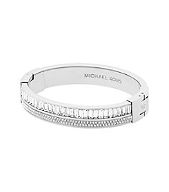 Michael Kors® Metallic Pave Crystal Hinge Bangle Bracelet