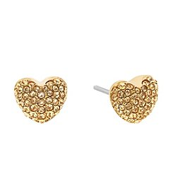 Michael Kors® Pave Hearts Crystal Stud Earrings