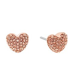 Michael Kors® Rose Goldtone Crystal Stud Earrings