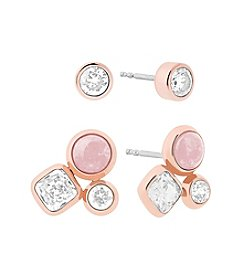 Michael Kors® Rose Goldtone Stud Earrings Set