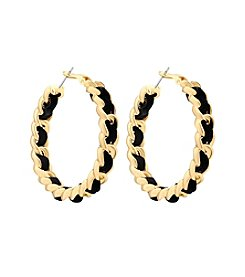 GUESS Woven Hoop Earrings