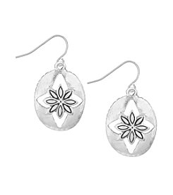 The Sak® Floral Oval Drop Earrings