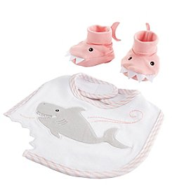 Baby Aspen Chomp & Stomp Shark Bib and Booties Gift Set