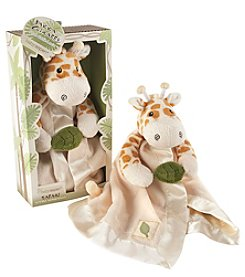 Baby Aspen Jakka the Giraffe Little Expeditions Plush Rattle Lovie with Crinkle Leaf