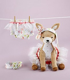 Baby Aspen Flora the Fawn Plush Plus Deer with Bloomers and Headband