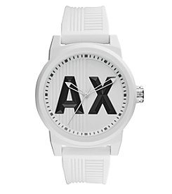 A|X Armani Exchange Men's 46mm Silicone Strap Watch