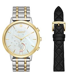 kate spade new york® Metro Grand Two-Tone Hybrid Smart Watch & Interchangeable Strap Set