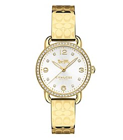 COACH Women's 28mm Delancey Crystal Goldtone Watch