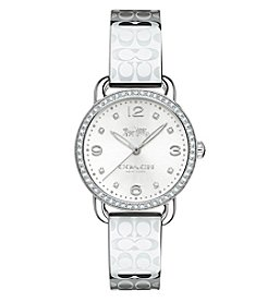 COACH WOMEN'S 28mm DELANCEY CRYSTAL SILVERTONE WATCH
