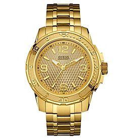GUESS Men's 46mm Goldtone Stainless Steel Textured Sport Watch