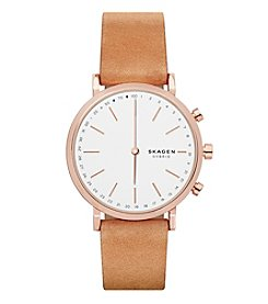 Skagen Hald Tan Leather Hybrid Smartwatch