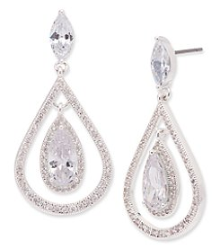 Anne Klein® Cubic Zirconia Orbital Earrings