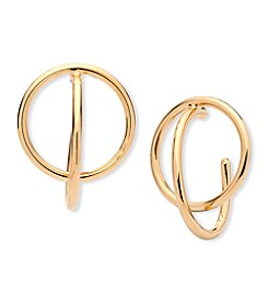 Anne Klein® Gold Double Hoop Earrings