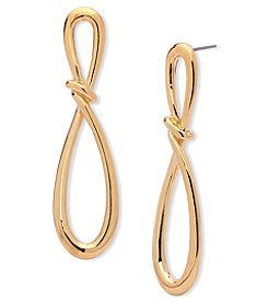 Anne Klein® Gold Infinity Post Earrings