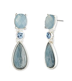 Anne Klein® Blue Denim Drop Earrings