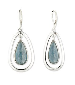 Anne Klein® Blue Denim Tear Drop Earrings