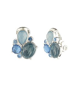 Anne Klein® Blue Denim Clip Earrings