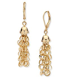 Anne Klein® Shaky Goldtone Drop Earrings