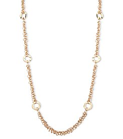 Anne Klein® Goldtone Shaky Necklace Strand