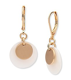 Anne Klein® Mother of Pearl Drop Earrings
