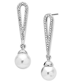 Anne Kelin® Simulated Pearl Drop Earrings