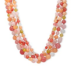Anne Klein® Coral Multi Torsade Necklace