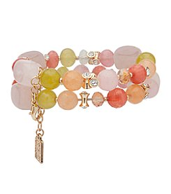 Anne Klein® Coral Multi Beaded Bracelet