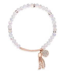 GUESS Beaded Stretch Charm Bracelet