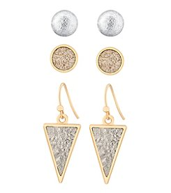GUESS Glitter Inlay Earrings Set
