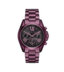 Michael Kors® Women's Oversized Bradshaw Plum-Tone Watch