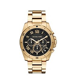 Michael Kors® Men's Chronograph Brecken Goldtone Stainless Steel Bracelet Watch