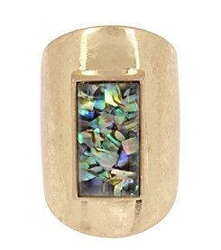 Kenneth Cole® Geometric Abalone Stone Sculptural Ring