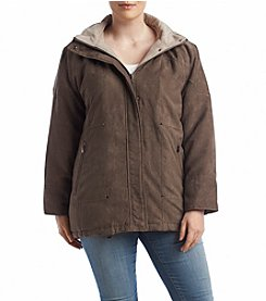 Forecaster Plus Size Drift Suede Hooded Coat