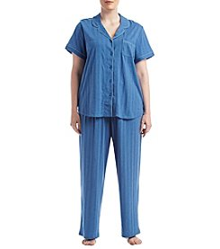 KN Karen Neuburger Plus Size Solid Knit Pajama Set